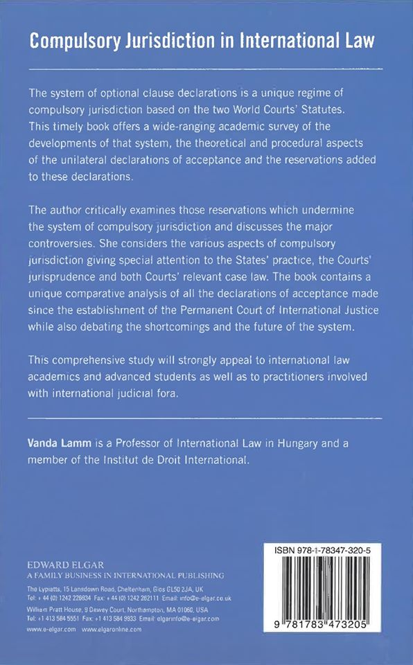 Compulsory Jurisdiction in International Law